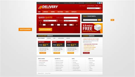 templates for courier website wonderful courier website template gallery resume ideas