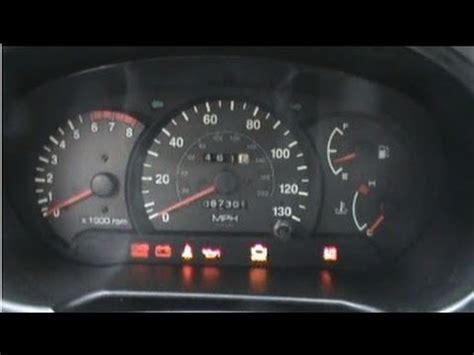 hyundai accent warning lights 2000 hyundai accent dash cold start youtube