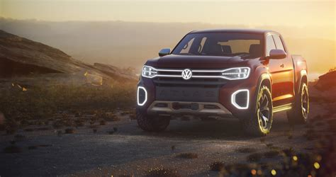 volkswagen truck concept new atlas tanoak pickup concept shows volkswagen wants