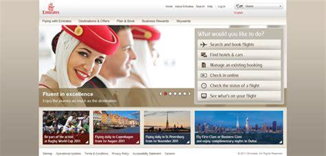 emirates web web design showcase of travel websites