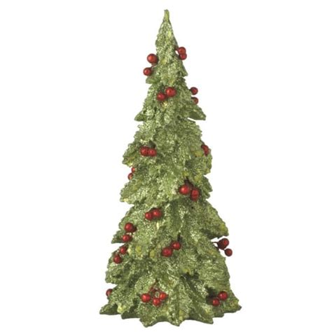 Small Country Home Small Holly Christmas Tree Resin Figure Midwest Cbk