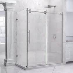 shower stalls with doors dreamline 36 quot x 72 quot enigma 1 2 quot glass frameless sliding