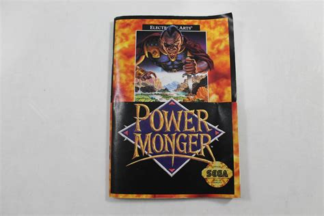 sega genesis manuals manual powermonger sega genesis