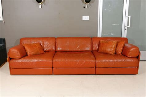 Modular Sleeper Sectional Modular Leather Sleeper Sofa By De Sede At 1stdibs