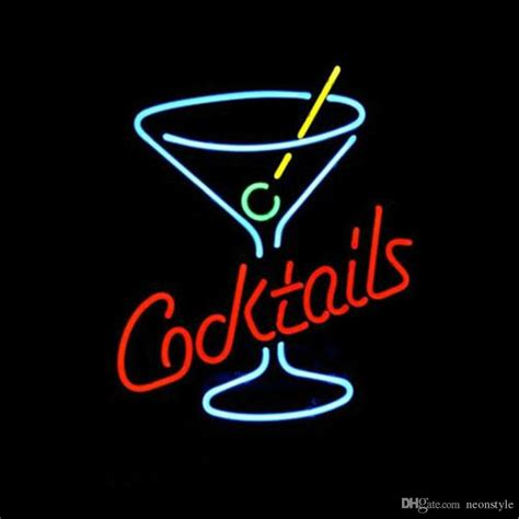 cocktail logo 2018 cocktails logo neon sign custom store display