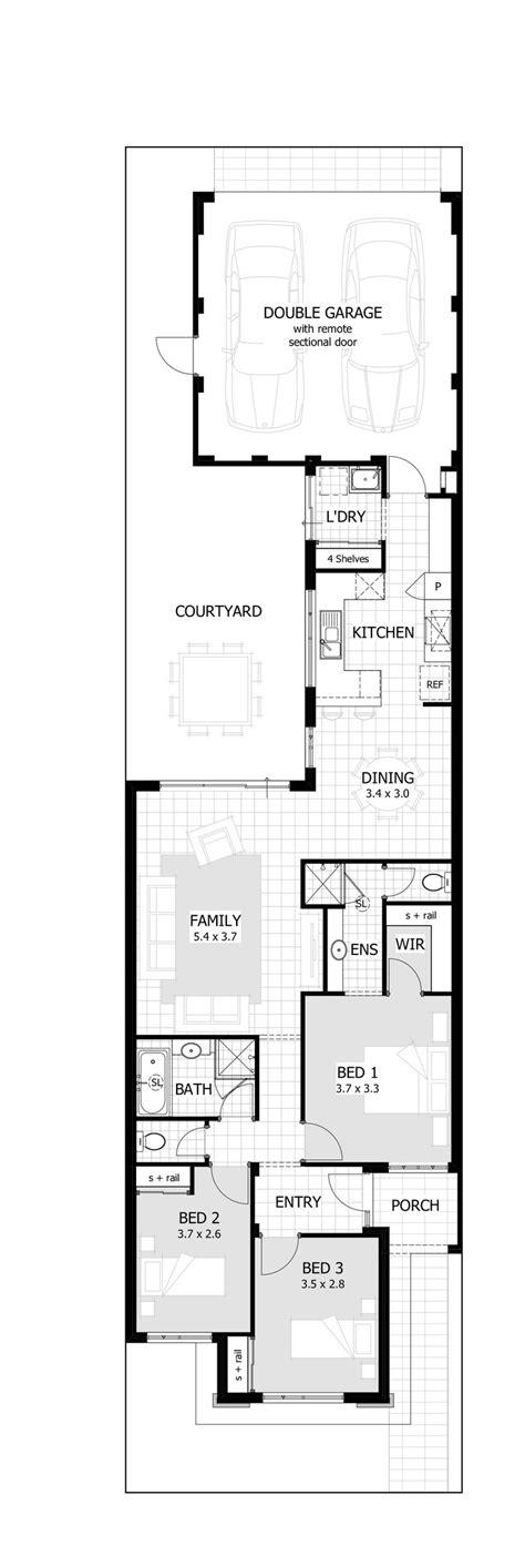 narrow lot floor plans best 25 narrow house plans ideas on narrow lot house plans narrow house designs