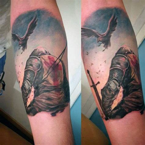 english knight tattoo designs inner forearm tattoos of knights