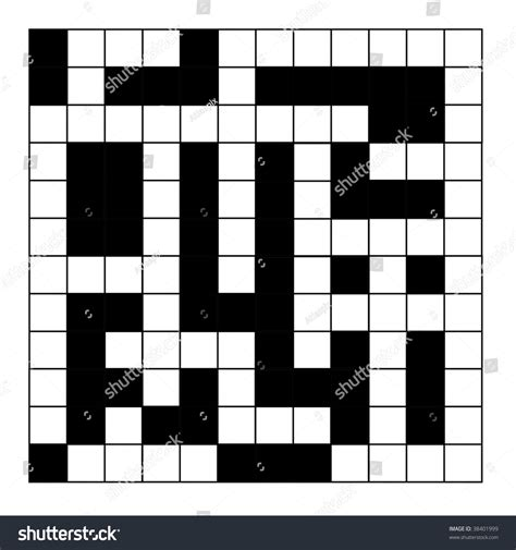 scan line pattern crossword blank crossword puzzle isolated on white background stock