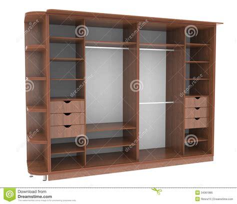 wardrobe with shelves royalty free stock photo image