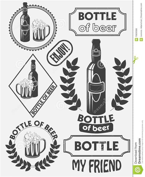 design beer label illustrator vintage craft beer brewery emblems labels and design