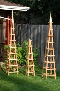 Tuteur Trellis Wood Garden Obelisk Trellis Woodworking Projects Amp Plans