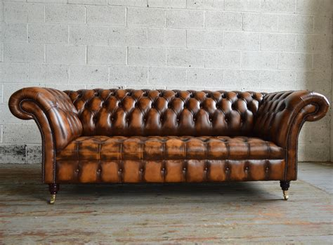 Antique Chesterfield Sofas Antique Belmont Leather Chesterfield Sofa Abode Sofas