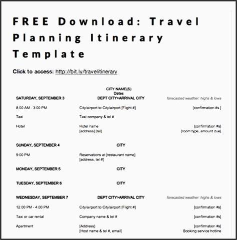 business travel itinerary template 9 business travel plan format sletemplatess