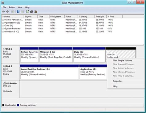 diskpart format unallocated space can i shrink one volume to extend another volume with