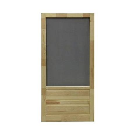 Wooden Screen Doors At Home Depot by Screen Tight 32 In X 80 In Hton Wood Unfinished
