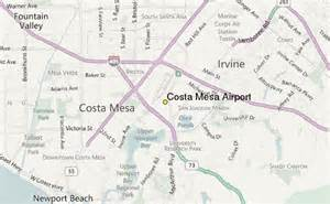 costa mesa airport weather station record historical