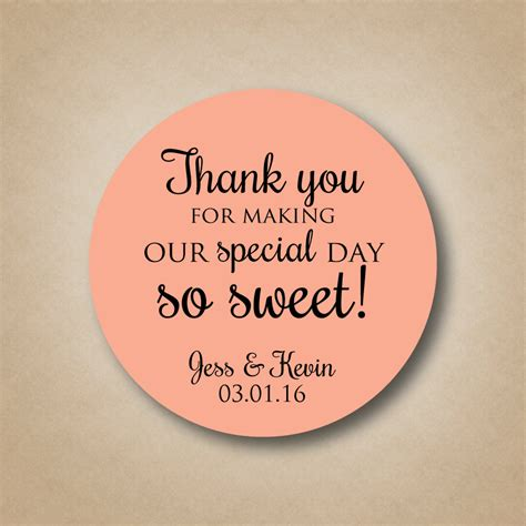 Wedding Favors Labels by Thank You Stickers Wedding Favor Stickers Special Day So Sweet