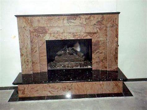 fireplace design remodeling marble tile studio city