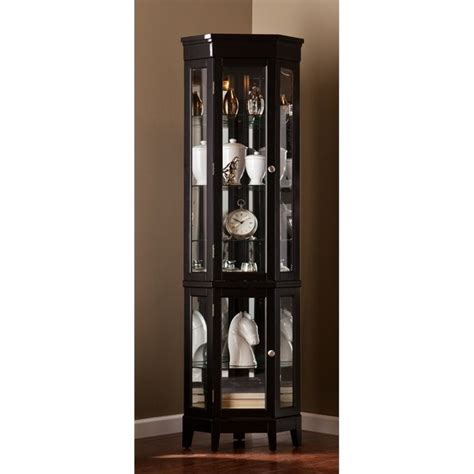 southern enterprises china cabinet southern enterprises essex corner curio in black cm0697
