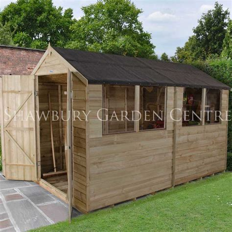 Assembled Garden Sheds by Forest Garden 6 X 10 Pressure Treated Overlap Apex Shed