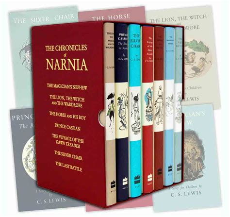 the chronicles books the chronicles of narnia 7 books box set collection c s