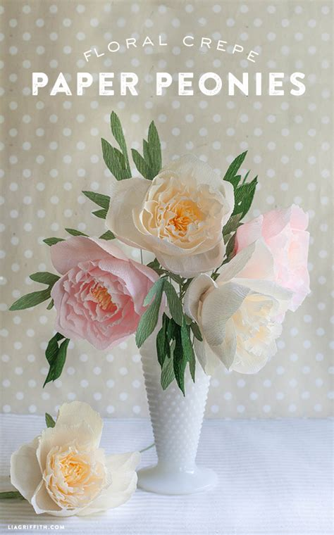 diy crepe paper peonies crepe paper flower craft night jenallyson the project