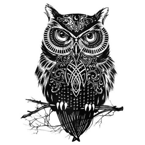 tatouage ephemere tribal hibou tempo tattoo