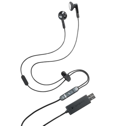Agiler Stereo Earphone logitech introduces earbuds for unified communications
