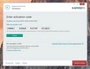 Kaspersky internet security 2016 activation code serial key free