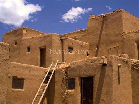 Pueblo Adobe Houses | native american adobe pueblo apartments native american