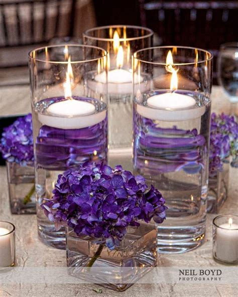 purple floating candles for centerpieces 118 best images about wedding centerpieces on