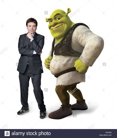 mike myers voice of shrek mike myers shrek forever after 2010 stock photo 78243069