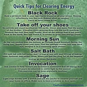 tips for clearing energy renee baribeau