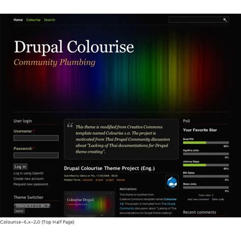drupal themes voting top 10 free drupal templates