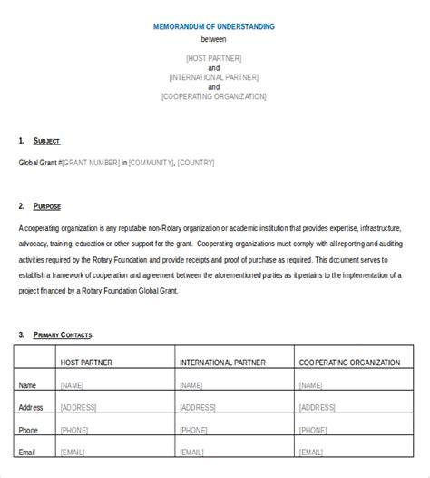free mou template memorandum of understanding template 35 free sle