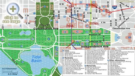 washington dc pop up map washington dc maps top tourist attractions free