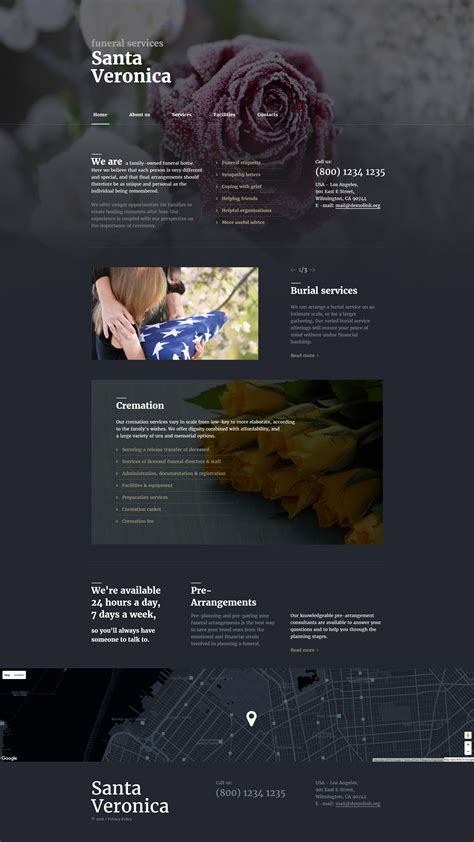 Funeral Services Responsive Website Template 58201 Funeral Home Website Templates
