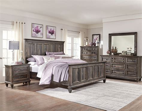 bedroom furniture com calistoga 8 piece king bedroom package weathered