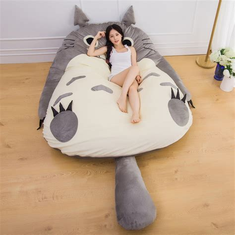 Lazy Bag Kasur Malas Empuk aliexpress buy manufacturer large size anime totoro bed design soft mattress kid