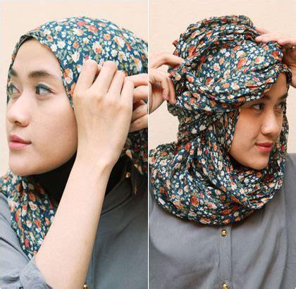 tutorial shawl unik tutorial hijab untuk til unik menggunakan scarf panjang