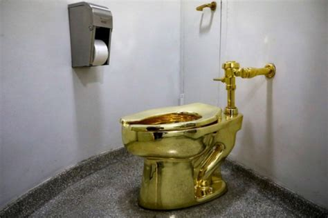 golden toilet white house wanted a van gogh painting was offered america golden toilet art instead