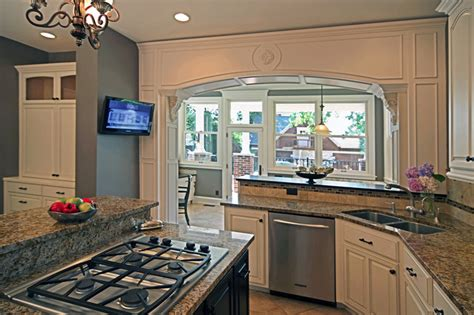 sunroom kitchen design ideas breakfast room addition central west end traditional kitchen st louis by mosby building