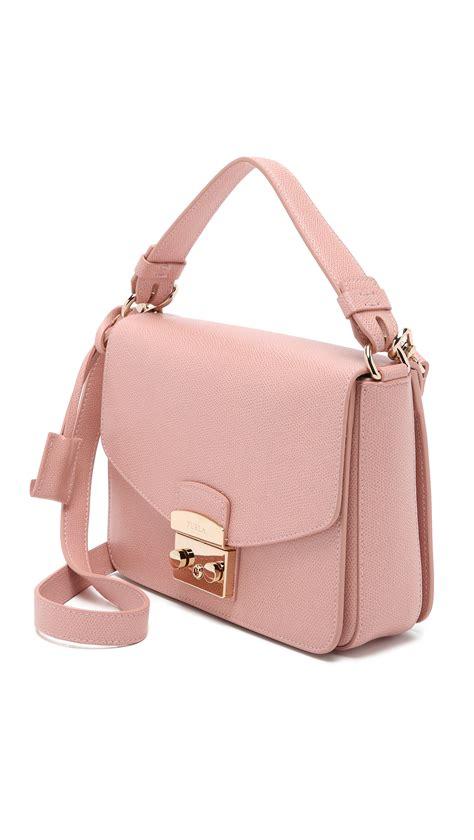 Furla Metropolis Shoulder Moonstone 2 furla metropolis small shoulder bag in pink lyst