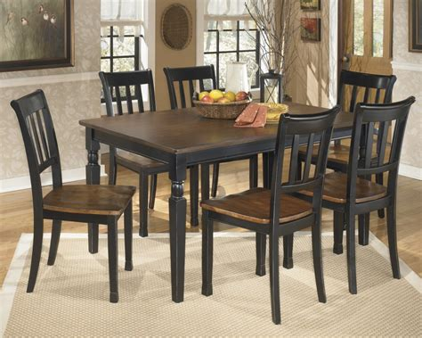dining room table for 6 owingsville rectangular dining room table 6 side chairs d580 02 6 25 dining room groups