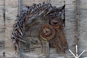horse wire sculpture home decor