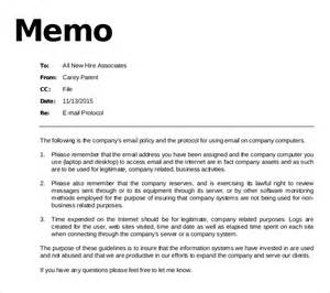Staff Policy Template by 11 Email Memo Templates Free Sle Exle Format