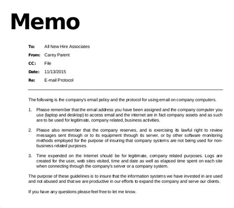 templates for business memos 14 email memo templates free sle exle format