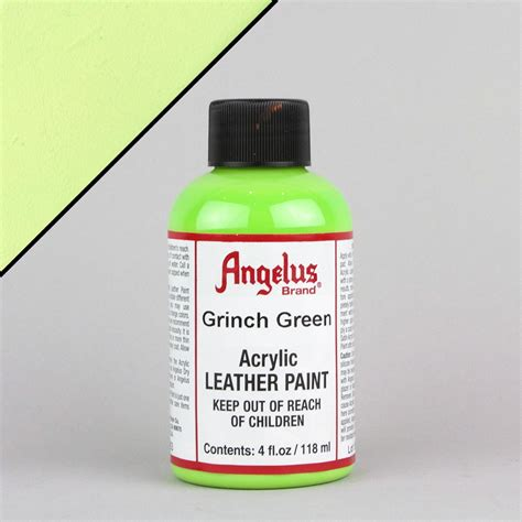 angelus paint green angelus leather paint 1oz grinch green lab uk