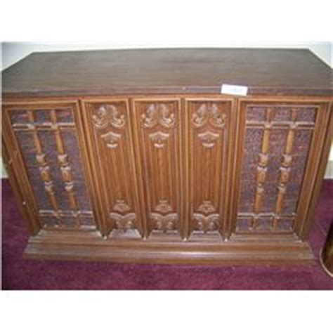 classic 1970 s era entertainment cabinet with working