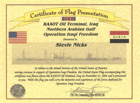 Nicksfix Com Flag Certificate Template